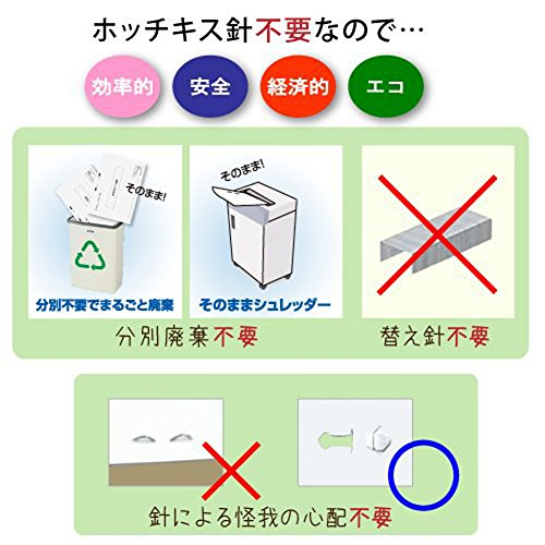No needle stapler Kokuyo <Ha Linux> (desktop 12 sheets) SLN-MS112D (japan import) - 3