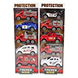 #6: Planet of Toys Pullback Fire Engine Series of 10 Cars for Kids, Children