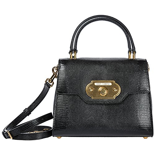 Dolce&Gabbana borsa donna a mano shopping in pelle nuova welcome nero