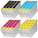win-tinten 16 T0711-T0714 Kompatible Patrone als Ersatz für Epson Stylus Office DX4400 DX4450 DX5000 DX7400 DX7450 DX8400 DX8450 DX9200 DX9400F