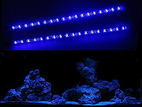 CREATIVE LIGHTS - AQUARIUM MONDLICHT 2 x 30 CM LED LICHTLEISTE KOMPLETTSET INKL. NETZTEIL FLEXI-SLIM