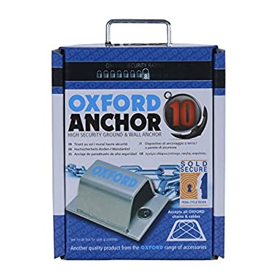 Oxford 10 High Security Ground/Wall Anchor - Silver from Oxford