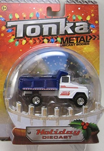 Santa's Workshop Blue & White Dump Truck Tonka Metal Holiday Diecast 1:50 Scale by Tonka