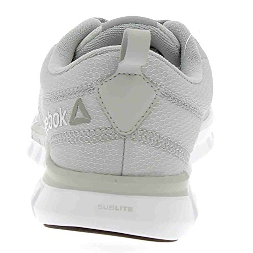 Reebok Sublite Authentic 4, Scarpe da Corsa Uomo Multicolore (Grey/Alloy/Wht/Blk)