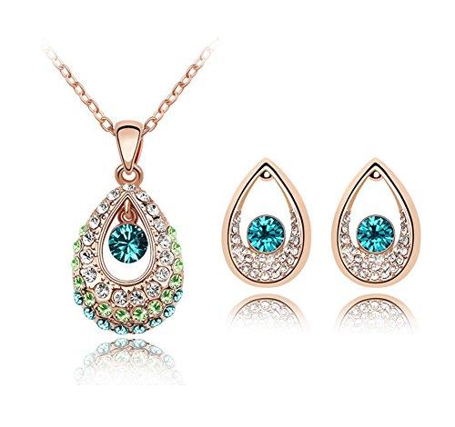 AIUIN 1X Conjunto de Joyas Indian Princess Series Collar/Colgante Pendientes Decoración de Joyas de Moda(con un Bolso de joyería)