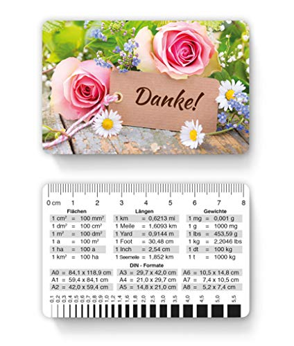 Visitenkartengröße mit nützlicher Rückseite (Lineal, Rissbreiten, DIN A - Formate) ()