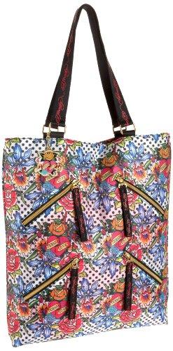 Ed Hardy 1ANY037POL Handtasche, Damentasche, Henkeltasche, Handbag - Mehrfarbig 30 cm -