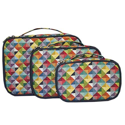 caribee-signare-set-di-3-accessori-da-viaggio-per-trasportare-gli-organizzatori-multicolore-triangol