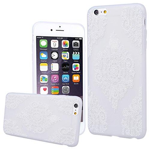WE LOVE CASE Coque iPhone 6 Plus, Souple Gel Coque iPhone 6S Plus Silicone Motif Fine Coque Girly Resistante, Coque de Protection Bumper Officielle Coque Apple iPhone 6 Plus iPhone 6S Plus Fille Mandala