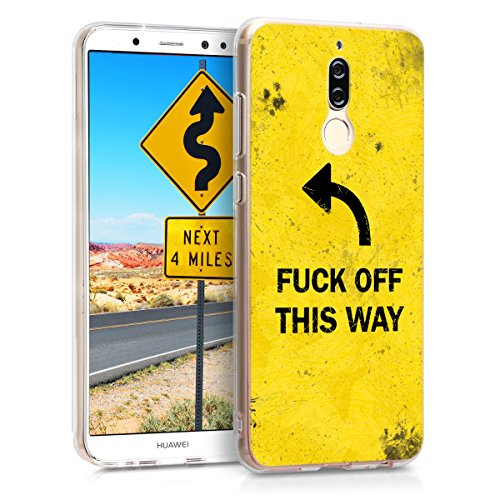 kwmobile Huawei Mate 10 Lite Hülle - Handyhülle für Huawei Mate 10 Lite - Handy Case in Schwarz Gelb