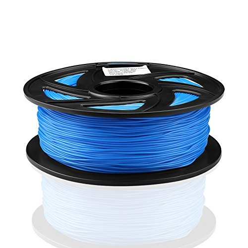 SIENOC 1 Packung 3D Drucker PLA 1.75mm Printer Filament - Mit Spule 1kg (Flexibel Blau)