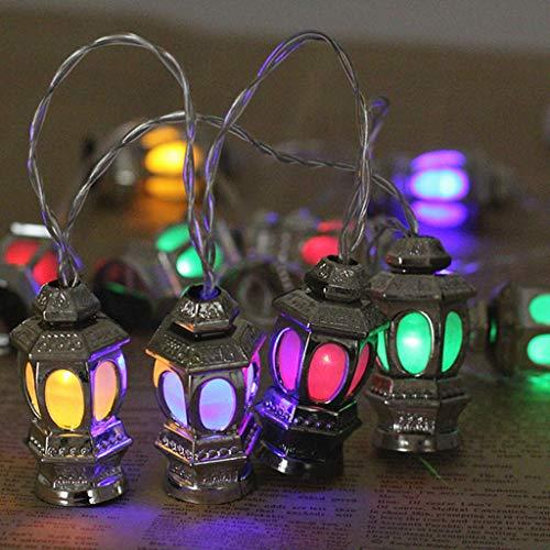 Lichterkette Ramadan Eid Decor Lights Laternenlicht Party Dekor Lichter Garten Lampe für Zimmer Dekoration (Farbe) (Halloween Schreiben Aktivitäten Für)