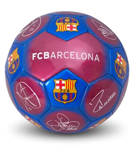 Official FC Barcelona Product;Size 5 Football;Features the printed signatures of players like Messi and more!;Barca team colors and crest;Great for any Barca fan!