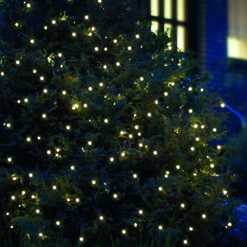 200 LED Lichternetz 3x3 m Lichtnetz Kabel grün LED warmweiß für innen und außen