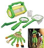 EDU Toys Insektenfang Set 5teilig und 6in1 Naturforscher Werkzeug für Kinder mit extra Lupenheftchen