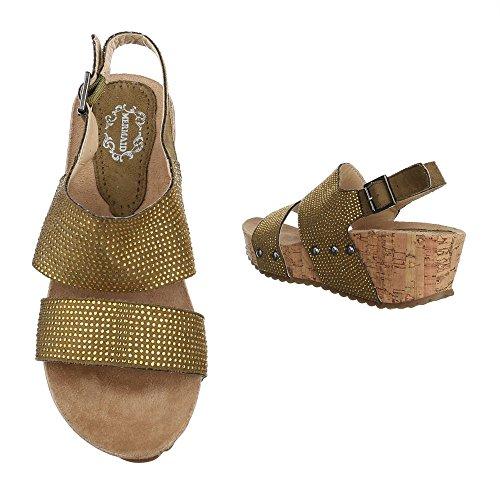 Ital-Design , Sandales pour femme Bronze