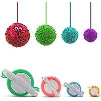 Pom Pom Maker,4 Tailles Fluff Ball Weaver Needle PomPom Maker Set-DIY Pompoms Kits de fabrication de poche artisanale…