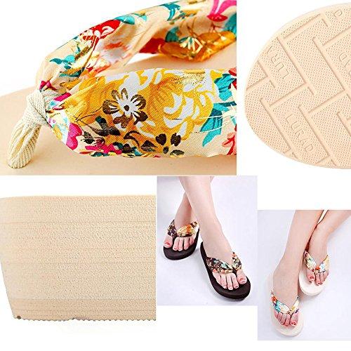 Summer Cool Damen Hawaiian Beach Sandalen Flip Flops schwarz 2