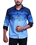 PP Shirts Men Cotton Casual Shirt ( Blue...