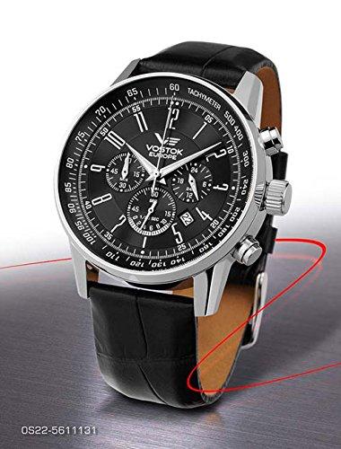 Vostok Europe Montres Homme - Bracelet en cuir & résine OS22-5611131 - GAZ 14 Limousine Chrono