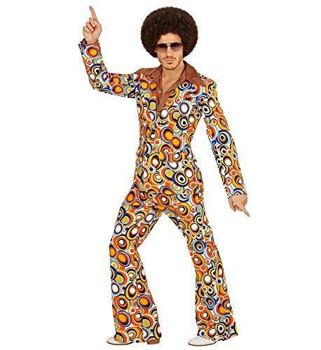 Party Kostüm Siebziger Jahre - shoperama 70er Jahre Retro Herren Anzug Bubbles Disco Herren-Kostüm Jackett Hose Siebziger Schlager Festival, Größe:M