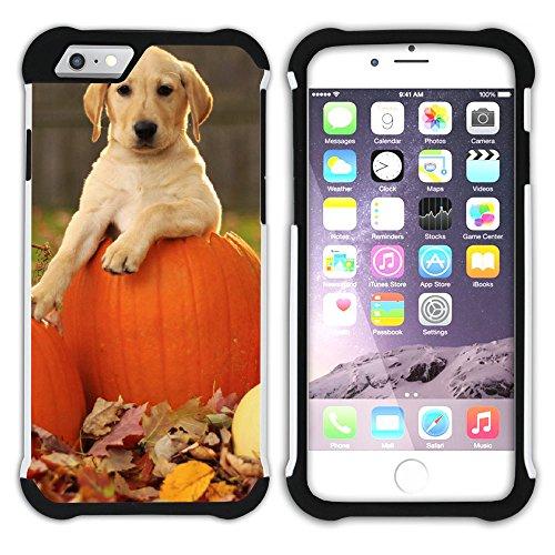 Graphic4You Labradorhund Labrador Retriever Hund Hündchen Tier Hart + Weiche Kratzfeste Hülle Case Schale Tasche Schutzhülle für Apple iPhone 6 Plus / 6S Plus Design #11