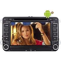 EinCar 7inch Android 5.1 Lollipop Quad Core da 1.6GHz 2 DIN a precipitare stereo Car DVD Player per la navigazione GPS Jetta Golf Passat Polo EOS Supporto Sat Nav Unit¨¤ principale CD DVD Sistema multimediale subwoofer SWC radio FM / AM OBD2 3G 4G WIFI 1080P DAB