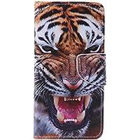 IJIA Luxe Tigre Animal Style PU Cuir Portefeuille Magnétique Case Coque Housse Etui Pour Samsung Galaxy A5 2016 SM-A510 + 24K Or Autocollant