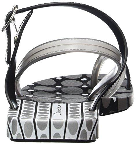 Ipanema Fashion Sand. Iii Fem, Tongs femme Multicolore - Mehrfarbig (black silver 8060)