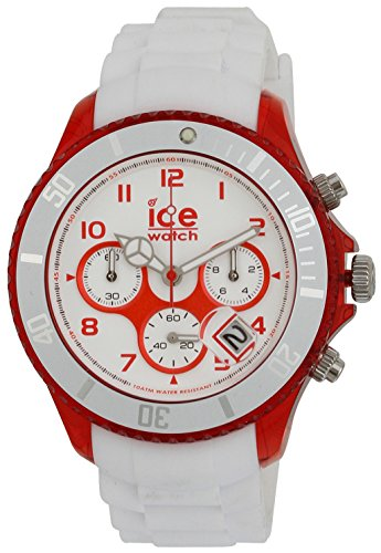 ICE-Watch Chrono Party Unisex Quartz Watch with White Dial Time Teacher Display and White Silicone Bracelet CH.WRD.BB.S.13