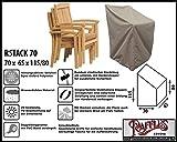 Raffles Covers RSTACK70 Schutzhülle für Garten Stapelstühle 70 x 65 cm Schutzhülle für Stapelstühle und Relaxsessel, Abdeckhaube für Gartenstühle