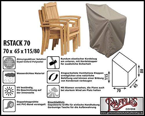 Raffles Covers RSTACK70 Schutzhülle für Garten Stapelstühle Schutzhülle für Stapelstühle und...