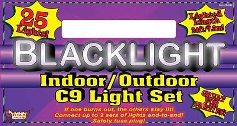Forum Novelties Blacklite Indoor Outdoor Black Light Set (25-Piece)