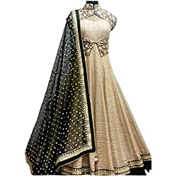 Lady Studio Women's Silk & Georgette Anarkali Suit (FDA107SH41_MultiFree Size)