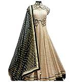 Lady Studio Women's Silk & Georgette Anarkali Suit (FDA107SH41_MultiFree Size)
