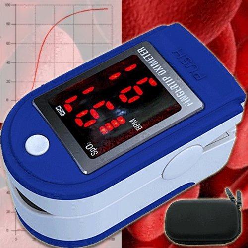 Fingerpulsoxymeter Pulsoxymeter Oxymeter EKG Oximeter Pulsmesser Pulsuhr Herzschlag Sauerstoffsättigung Sp02 OM1
