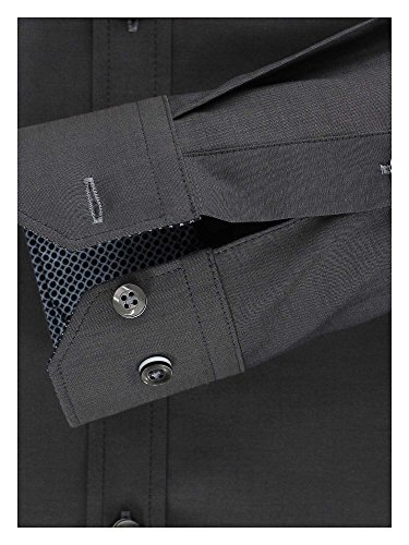 Venti Herren Businesshemd Grau (Anthrazit 750)