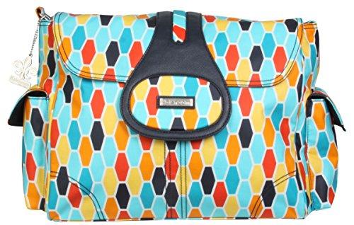 kalencom-elite-python-changing-bag-honey-comb-orange