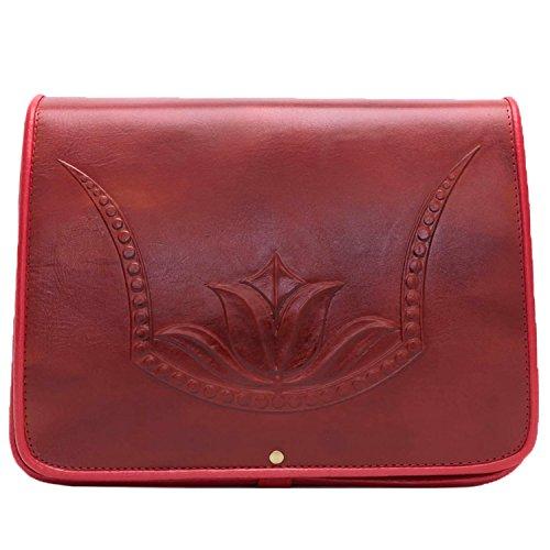 51UwdO5olGL UK BEST BUY #1Koson Leather Molded Red Tulip Handmade Satchel Shoulder Handbag Messenger Bag price Reviews uk