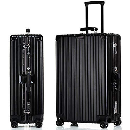 NuoEn Bagaglio a mano Valigia alluminio telaio Retro Trolley universale ruota Travel Box capacità: 56-75l