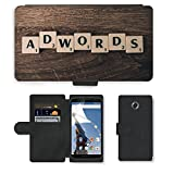 PU Leder Wallet Case Folio Schutzhülle // M00292094 Adwords Seo Sem Google Marketing // Motorola Google Nexus 6