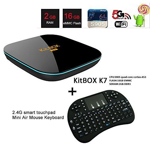 KitBox K7 Android TV Box S905 2GB 16GB with kodi16 1 Dual