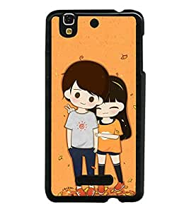 Cute Couple 2D Hard Polycarbonate Designer Back Case Cover for YU Yureka :: YU Yureka AO5510