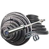 Olympia-Langhantelset Body-Track® DB330, 145 kg, gummierte Hantelscheiben