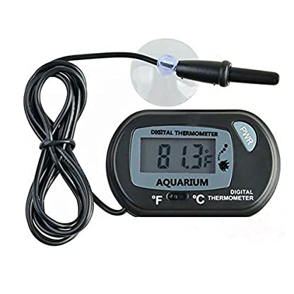 H.W.T Digital Fish Tank Water Aquarium Marine Vivarium Thermometer with Suction Cup Probe Cable & LCD Screen 1