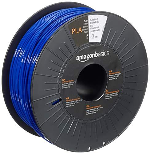 AmazonBasics 3D-Drucker-Filament aus PLA-Kunststoff, 1,75 mm, Dunkelblau, 1-kg-Spule