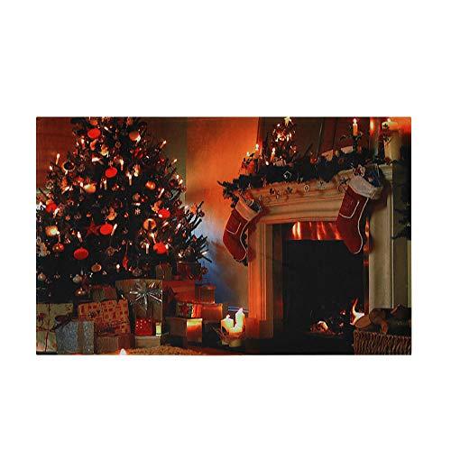 HROIJSL Frohe Weihnachten Weihnachten Print Mat 40 * 60cm Willkommen Fußmatten Indoor Home Teppiche Decor rutschfeste Tür Fußmatten Hall Küche Decor Badematte Badteppiche Rutschfester