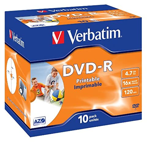 DVD-R 4,7GB 16x Verbat.Printable JC 10er