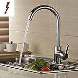 Auralum® 2 Jahre Garantie Niederdruck Mischbatterie mit Groß C Form 360° Drehbar Armatur Wasserhahn Küchearmatur Einhandmischer für Spüle Küche