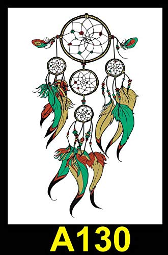 Zhuhuimin grandi adesivi per tatuaggi con braccio a fiore grandi uomini e donne a mezzo braccio impermeabili e antipioggia 5set